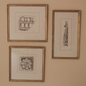 Framed Architectural Renderings for use in a Nashville Interior Design Project